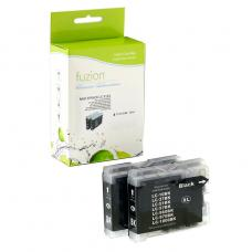 Compatible Brother LC51 2 X Noir Fuzion (HD)